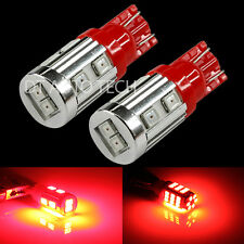 2X T10 192 194 High Power 2835 Chip SMD LED Red Interior Light Bulbs