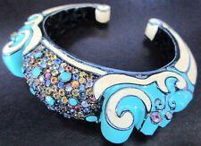 MATTHEW CAMPBELL LAURENZA MCL Sterling Silver Enamel Gemstone Cuff Bracelet