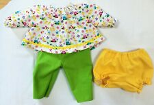 3 Piece Easter Outfit - Top, Pant, Panty - to fit Deluxe Reading Baby Boo Doll
