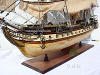 "XL USS Constitution Wooden Tall Ship Model 59"" Old Ironsides Fully Assembled New"