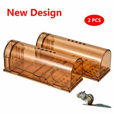 2PCS Humane Smart No Kill Mouse Trap Catch and Release, Safe for Child Pet Safe