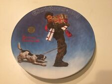 "Knowles Norman Rockwell Collector Plate ""Wrapped Up in Christmas"" Ltd. Edition"