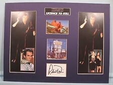 "Timothy Dalton as James Bond in ""License to Kill"" signed by Robert Davi"