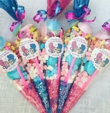 10 Shimmer & Shine Themed Pre Filled Sweet Cones Personalised + Free Sweety Bag