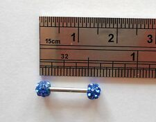 Crystal Balls Surgical Steel Choose Length Straight Barbell Jewelry 16 gauge 16g