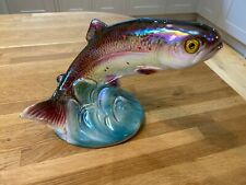 Ceramic Salmon Fish Figure