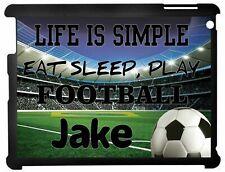 Personalised Football Life Is Simple Ipad case 2/3/4 & Mini 1/2/3 Mini 4/5 2019