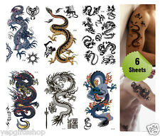Supperb® 6-pack Mix Dragons Temporary Tattoo