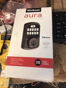 Kwikset Aura Bluetooth Keypad Smart Lock Electronic Deadbolt Venetian Bronze