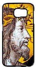 Jesus Christ Cross Case Cover S6 s6 Edge S5 S4 S3 Note 2 3 4 Black Pictorial