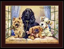 Print Cairn Terrier Cocker Spaniel Dog Art Picture