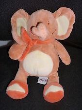 doudou peluche éléphant orange BENGY 25cm (3 dispo)