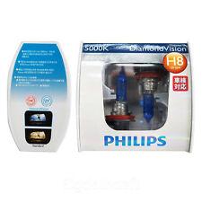 New Philips 5000K Diamond Vision H8 Xenon HID Look Head Light Bulbs Pair