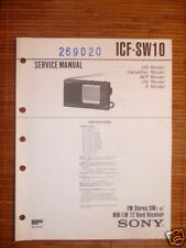 Service Manual  Sony ICF-SW10  12-Band Receiver,ORIGIN