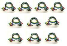 Lot of (10) NEW 6 Pack 1ft Right Angle Patch Cables 1/4 to 1/4 Effects Pedals