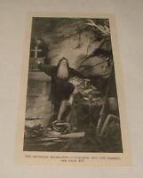 1893 magazine engraving ~ PARSIFAL AND THE HERMIT, Germany