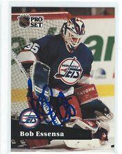 Bob Essensa Signed 1991/92 Pro Set Card #266
