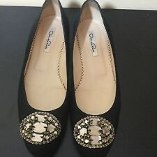 Oscar De La Renta Eve Embellished Jeweled Evening, Dressy Ballet Flats 9M