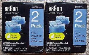 2 Boxes New Braun CCR Clean & Renew Cartridges Refills 2 Per Box Total of 4