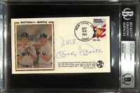 Mickey Mantle Don Mattingly Signed Slabbed New York Yankees Envelope BGS