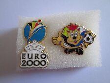 b1 lotto 2 spille HOLLAND BELGIUM 2000 UEFA european championship pins lot 04