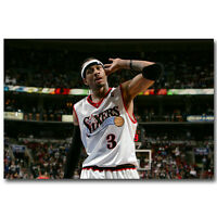 Allen Iverson The Answer Basketball Silk Poster Art Print 13x20 24x36inch 002