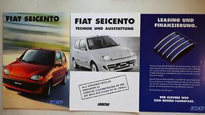 Prospekt Fiat Seicento, 2.1998, 28 S. + Technik/Ausstattung + Leasing/Finanzier.
