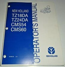 New Holland TZ18DA TZ24DA Tractor Operators Maintenance Manual NH ORIGINAL! 1/04