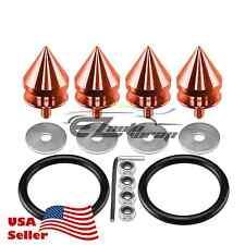 Orange Spike Quick Release Fasteners For Car Bumpers Trunk Fender Hatch Lids Kit