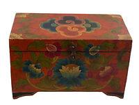 Cofanetto Scatola Tibetano Lotus Budda Artigianato Tibet 33X20CM 25324 NEP15