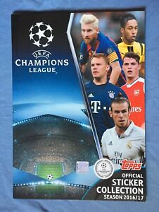 Topps Champions League 2016 2017 complete set and album mint