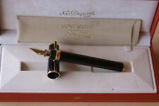 """RARE stylo plume 18 kts ST DUPONT MONTPARNASSE """"Chairman"""" laque de Chine noire"""
