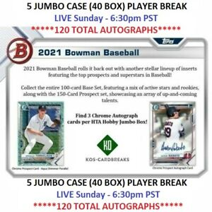 Dylan Carlson Cardinals 2021 Bowman Jumbo 5 CASE 40 Box PLAYER BREAK