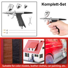 Airbrushpistole Spritzpistole Komplett-Set mit 0,3 / 0,5 / 0,8mm Düse NEU ST-1