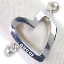 GUCCI Ball chain heart Ring Silver925 #7(US Size) Women
