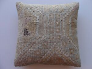 "Cotton Pillow Cover 16""x16"" boho decor Pillow, rugs Case, Cushion carpet pillow"