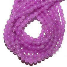 "GRX1147 10-Strands Purple Fuchsia Candy Jade 4mm Round Quartz Gemstone Beads 15"""