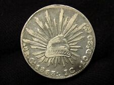 1863 Mexico CA J.C. 8 Reales CHIHUAHUA MINT BETTER DATE