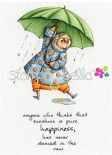 New Stamping Bella Cling Rubber Stamp Senior-ita Beverly loves rain free us ship