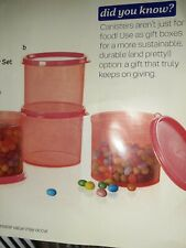 Tupperware Set of 4 Mini Canisters  Melon 2 cup