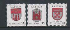 Latvia - 2012, Coats of Arms set - MNH - SG 817/19