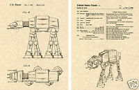 AT-AT WALKER US PATENT Art Print READY TO FRAME!!!! George Lucas AT Lucasfilm