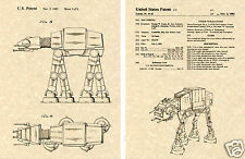 At-At Walker Us Patent Art Print Ready To Frame! George Lucas At Lucasfilm