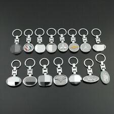 Car Logo Keychain Chain Metal Rhinestone Keyring For Mazda Lexus Chevrolet