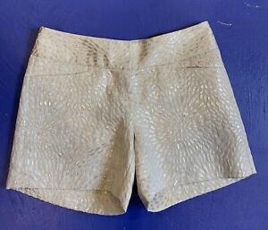 """The Limited Cassidy Fit Chino Shorts Size 0 Ivory Metallic 5"""" Inseam NWT"""