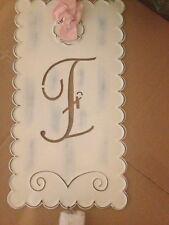 """Pottery Barn Kids ~ New ~ Ribbon Tin Letter """"i"""""""