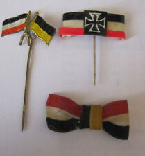 BADGE TINNIE GERMAN PATRIOTIC VARIOUS X3 (LOT 182)