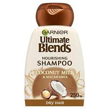 Garnier Dry Hair Shampoo Conditioner Care Ultimate Blends Coconut Milk  250 ml