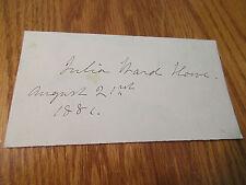 JULIA WARD HOWE SIGNATURE AUGUST 21 1881 BATTLE HYMN OF THE REPUBLIC