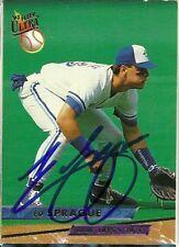 1993 Fleer Ultra ED SPRAGUE Signed Card autograph BLUE JAYS A'S WORLD SERIES